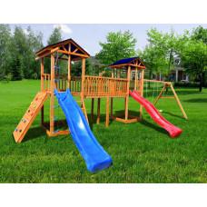Детский игровой комплекс Можга СГ6-Р912-Р923 Тент с качелями и широким скалодромом
