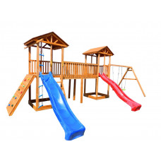 Детский игровой комплекс Можга СГ6-Р912-Р923 с качелями и широким скалодромом