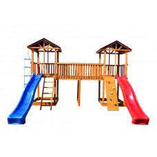 Детский игровой комплекс Можга СГ6-Р922-Тент Спортивный городок 6 с узким скалодромом