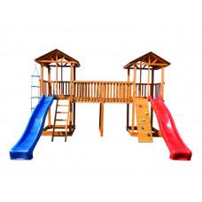 Детский игровой комплекс Можга СГ6-Р922 Спортивный  городок 6 с узким скалодромом