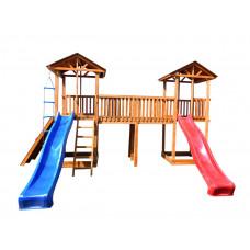 Детский игровой комплекс Можга СГ6-Р923 с широким скалодромом