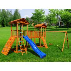 Детский игровой комплекс Можга СГ7-Р912-Р923 Спортивный городок 7 с качелями и широким скалодромом