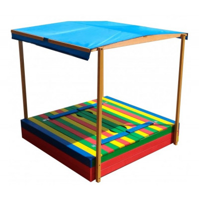 Детская песочница Славушка цветная с крышей Тент