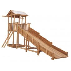 Зимняя горка деревянная заливная Спортивный городок СГ-Р919-Р918 с узкой лестницей