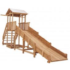 Зимняя горка деревянная заливная Спортивный городок СГ-Р919-Р921 с широкой лестницей