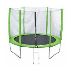 Батут с внешней сеткой 244 см зеленый 8ft