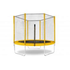 Батут КМС Trampoline 10 (3 м) с защитной сеткой жёлтый