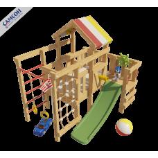 Домашний игровой комплекс чердак - кровать Соник