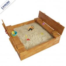Детская песочница Самсон Арена с крышкой