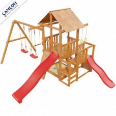 Детская игровая площадка Сибирика с 2-я горками