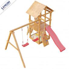 Детская игровая площадка Сибирика с сеткой