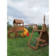 Детская игровая площадка Выше Всех Маугли 1 с винтовой горкой