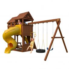 Детская игровая площадка New Sunrise Новый рассвет с винтовой горкой трубой
