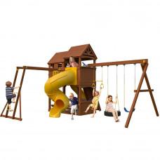 Детская игровая площадка New Sunrise Новый рассвет с винтовой горкой трубой и рукоходом